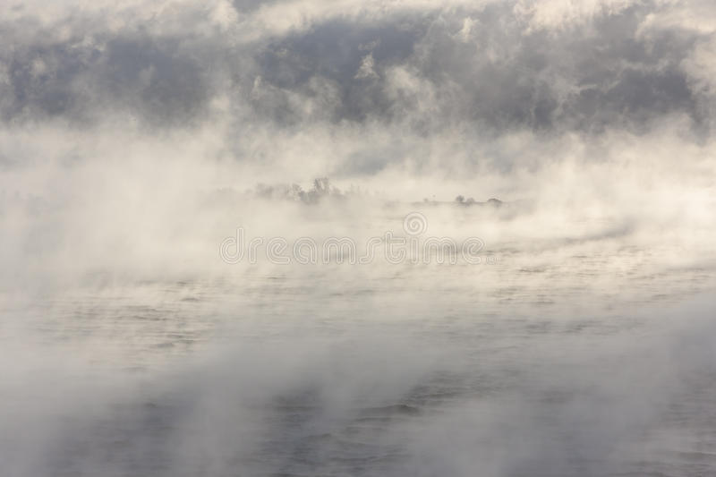 Download Island in a steamy water stock photo. Image of weather - 83704828