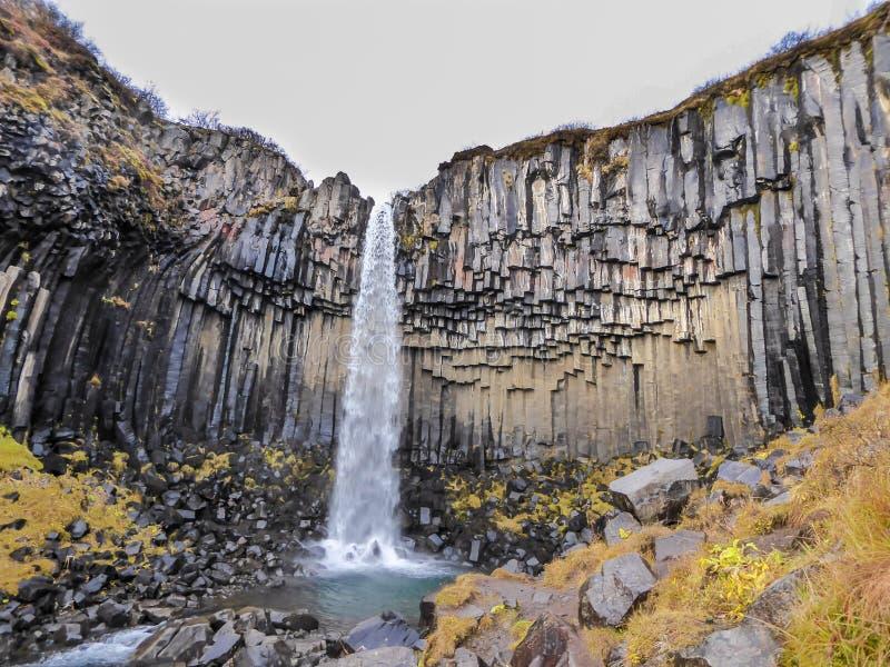 Island - storartad vattenfall arkivbild