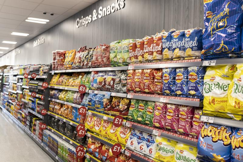 Island-Supermarkt jetzt offen an Fox-Tal in Sheffield lizenzfreies stockfoto