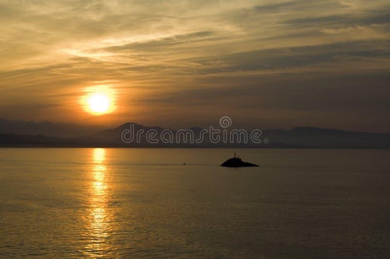 Island Surise in Zihuatanejo stock photos