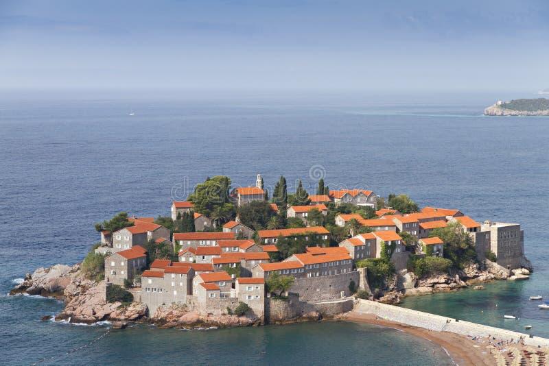 Island Of Sveti Stefan Royalty Free Stock Photography
