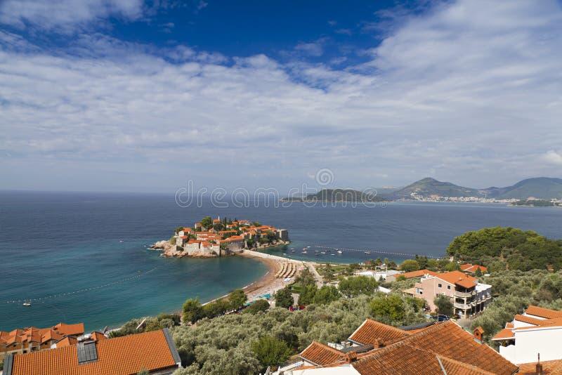 Download Island Of Sveti Stefan In Montenegro. Stock Image - Image: 18206923