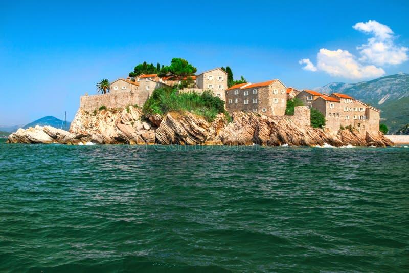 Island Of Sveti Stefan Montenegro Royalty Free Stock Photo