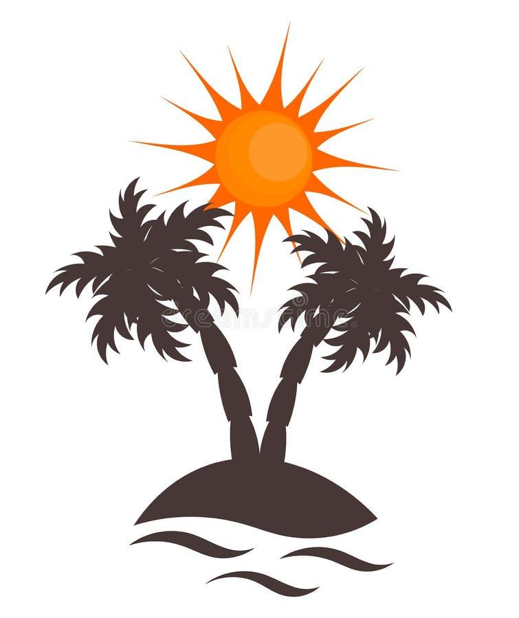 Download Island symbolic stock vector. Image of illustration, paradise - 20859350