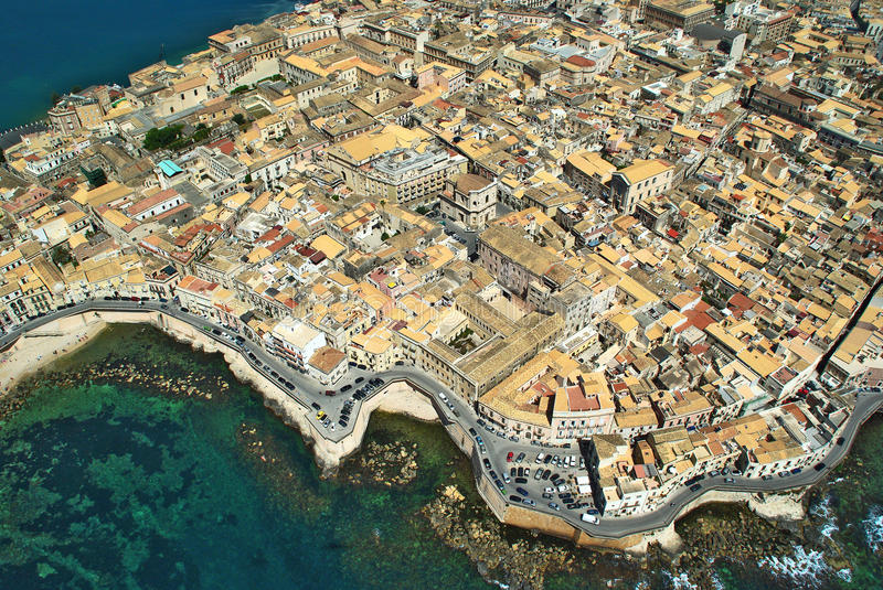 Island of Syracuse Sicily stock image