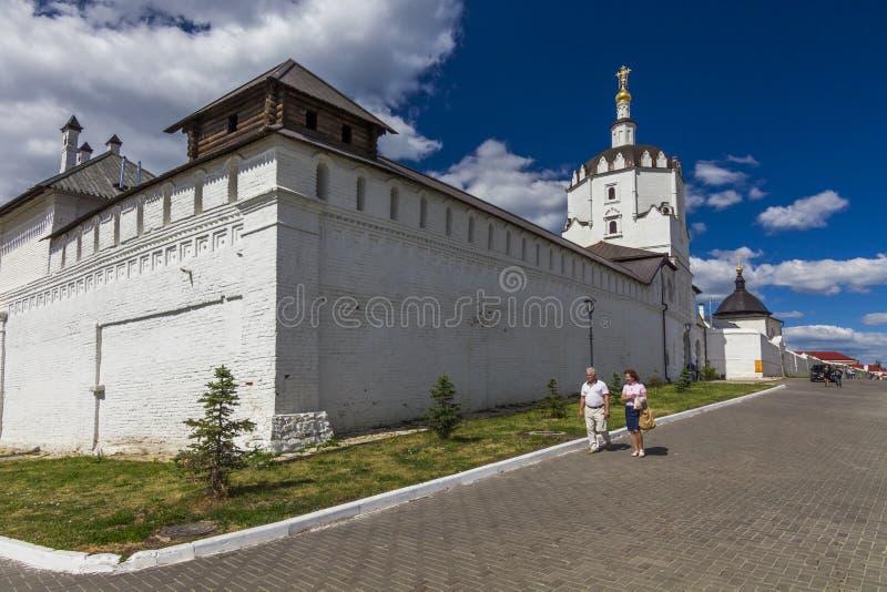 Island-town Sviyazhsk. Sviazhsky Holy Dormition Monastery. Tatarstan royalty free stock photos