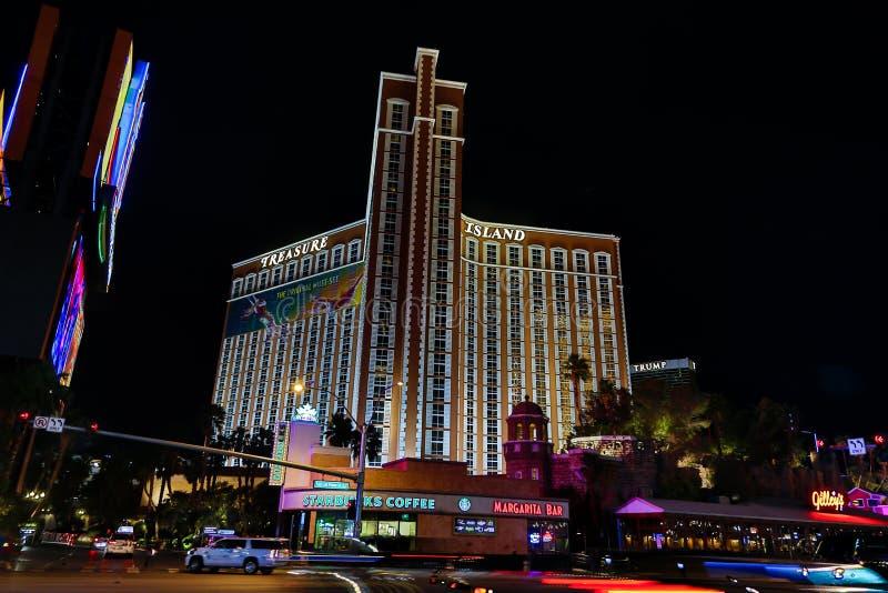 Island Treasure Casino. Las Vegas, Island Treasure Casino evening of March royalty free stock photos