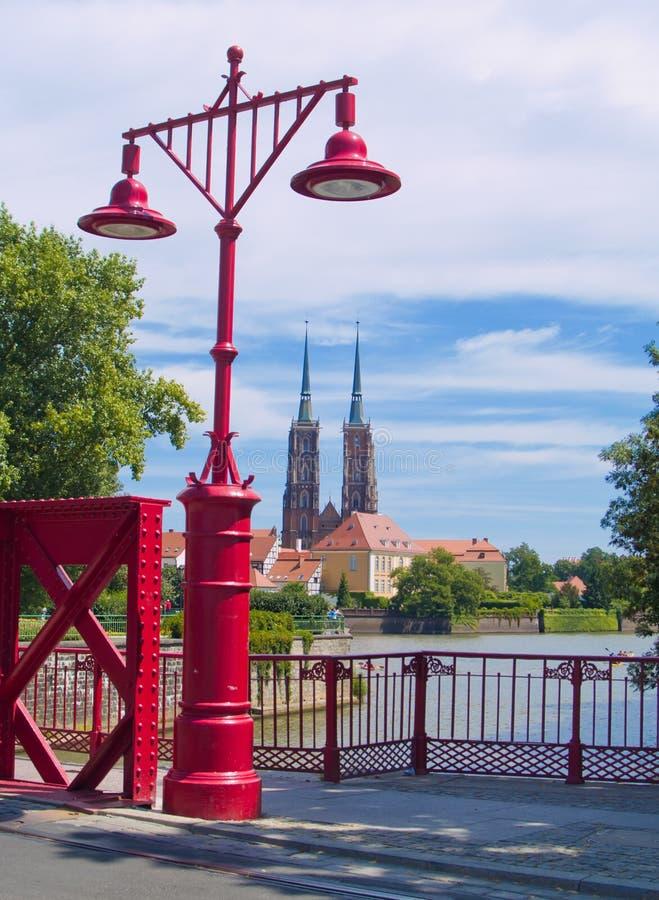 Island Tumski, Wroclaw, Poland. Old town of Wroclaw (island Tumski), Poland royalty free stock image