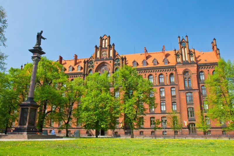 Island Tumski, Wroclaw, Poland. Seminary of island Ostrow Tumski, Wroclaw, Poland stock photo
