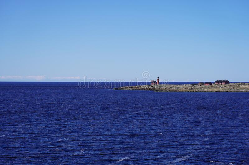 The Island Of Tylon is close to Tylosand, Halmstad, Sweden. The Island Of Tylon is a nature reserve since 1927 and has it's own lighthouse. It is located royalty free stock image