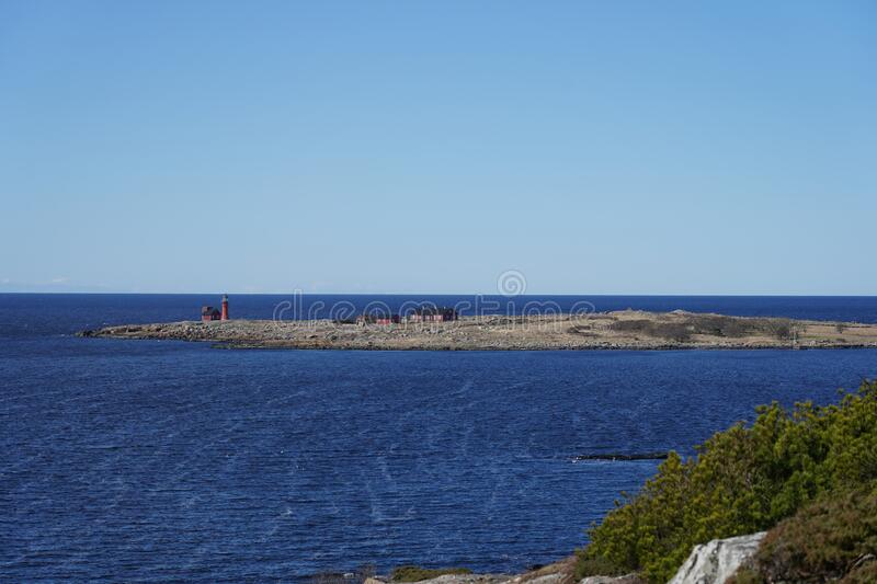 The Island Of Tylon is close to Tylosand, Halmstad, Sweden. The Island Of Tylon is a nature reserve since 1927 and has it's own lighthouse. It is located royalty free stock photo
