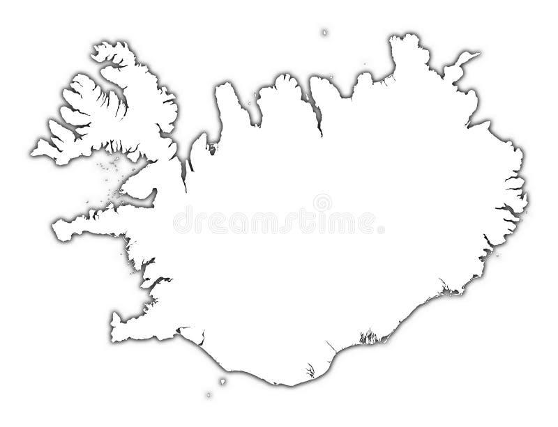Island-umreißkarte stock abbildung