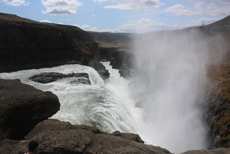 Island vattenfall royaltyfri bild