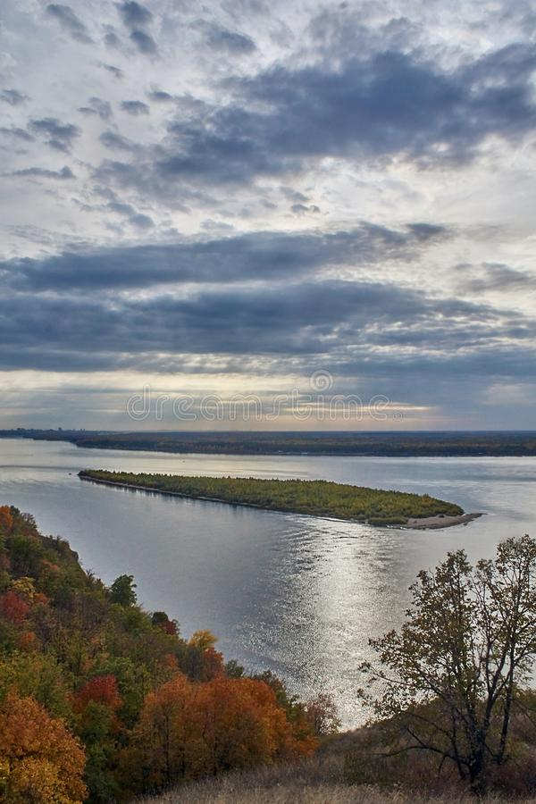 The island on the Volga rive, stock images