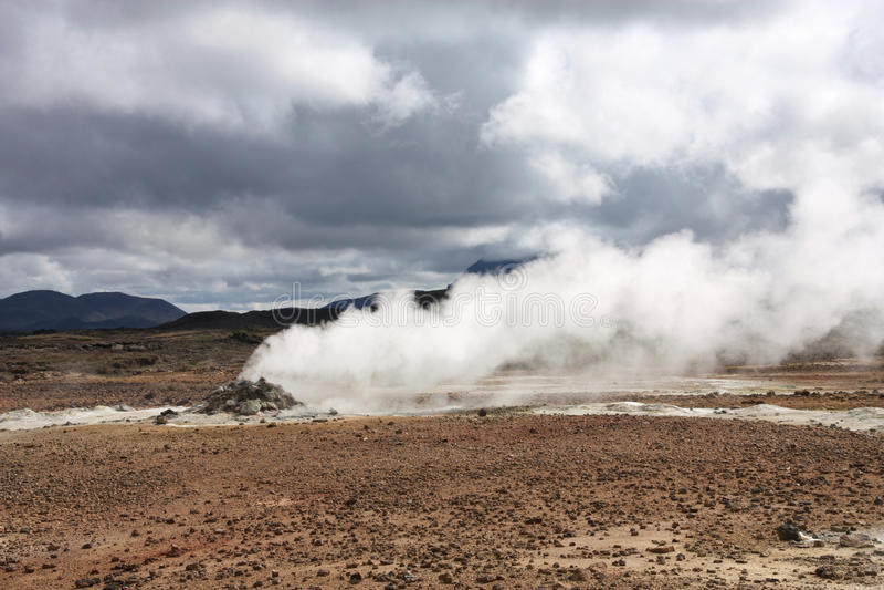Island-vulkanischer Bereich stockbild