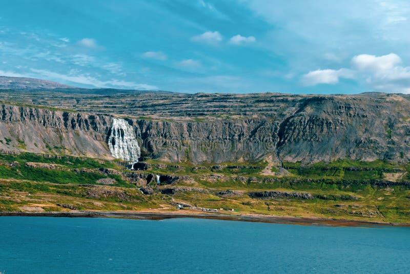 Islandia dynjandi wodospadu zdjęcia royalty free