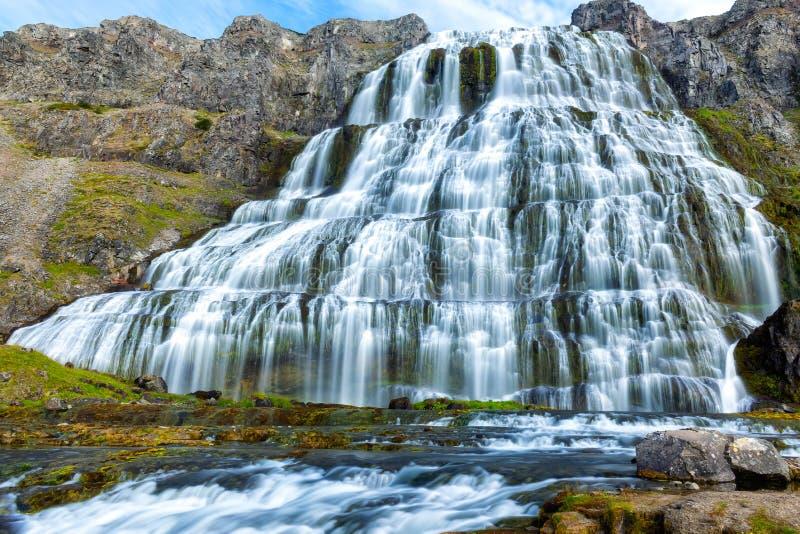 Islandia dynjandi wodospadu obrazy stock