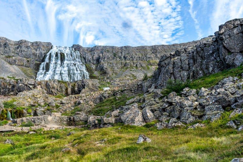 Islandia dynjandi wodospadu obrazy royalty free