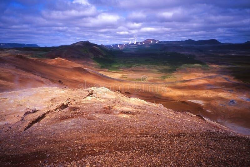 Islandia geothermic miejsce namafjall obrazy stock