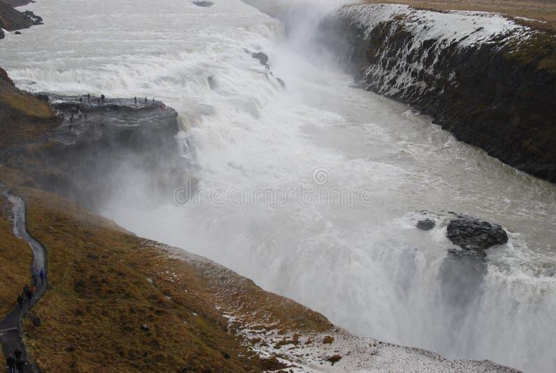 Islandia gulfoss wodospadu zdjęcia royalty free