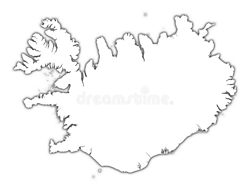 islandia mapy zarys ilustracji