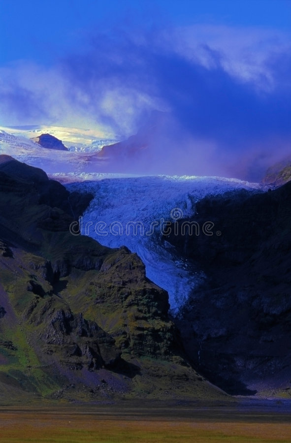 Islandia oraefajokull lodowe się zdjęcia stock