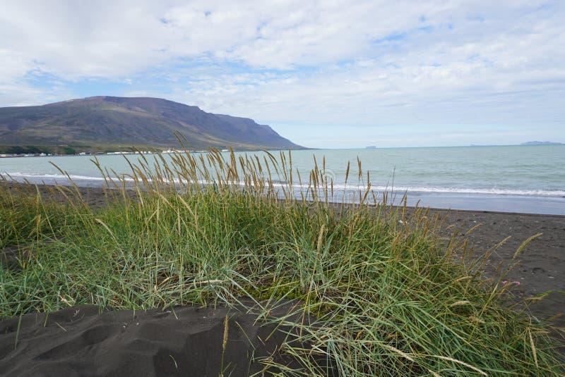 Islandia - playa en Saudarkrokur fotografía de archivo