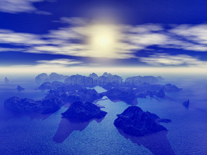 Islands in the cold stock images