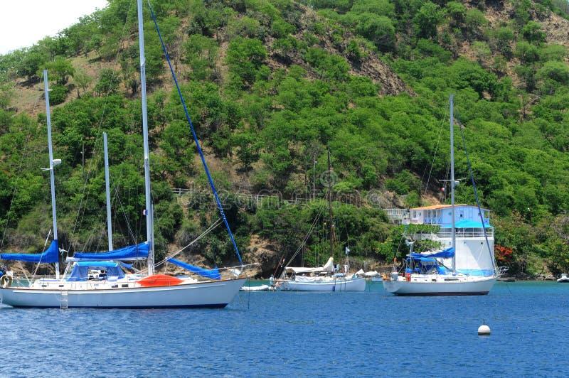 Islands of Les Saintes stock images