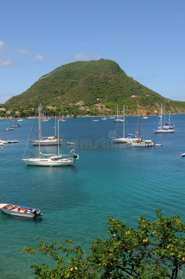 Islands of Les Saintes royalty free stock photography