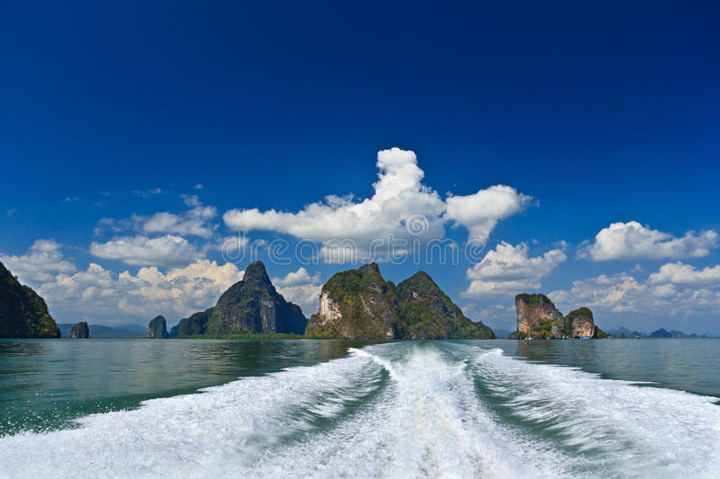 Islands In A Phang Nga Bay From Boat Royalty Free Stock Photos