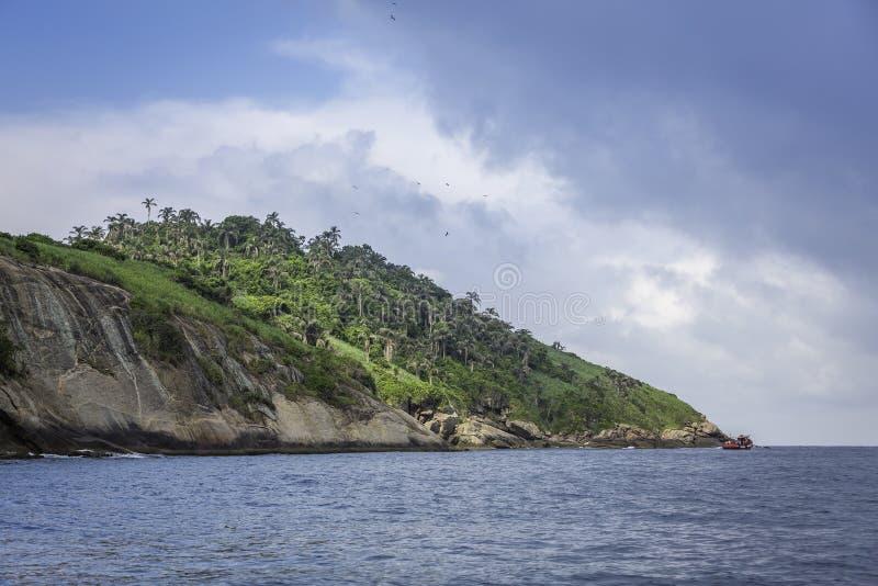 Islands of Rio de Janeiro - Ilha das Palmas. Brazil royalty free stock photography