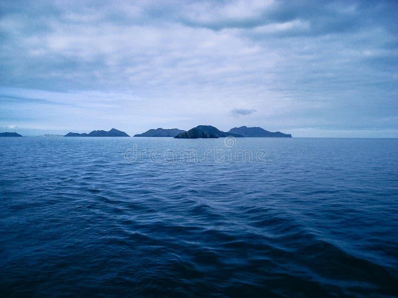 Islands route puerto la cruz - margarita. Photo taken from the ferry royalty free stock image