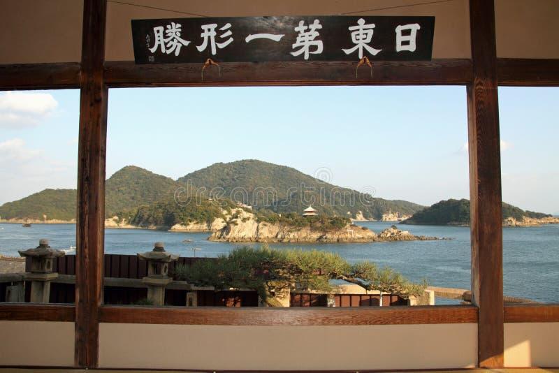 Islands in Seto inland sea from Fukuzen temple stock image