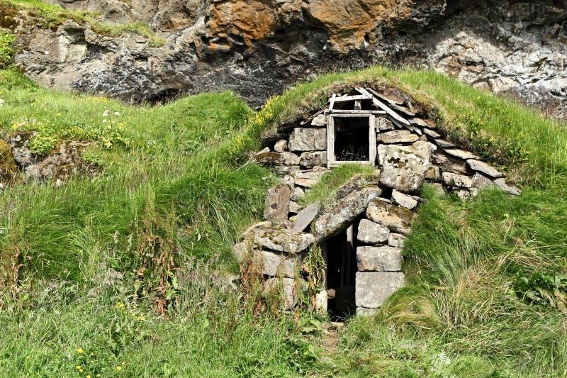 Islandzki murawa dom obrazy stock