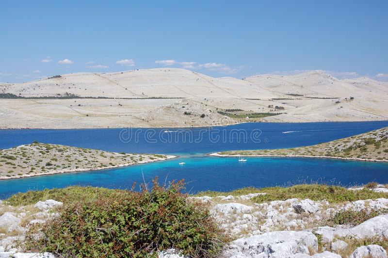 Islas 7 de Kornati fotografía de archivo