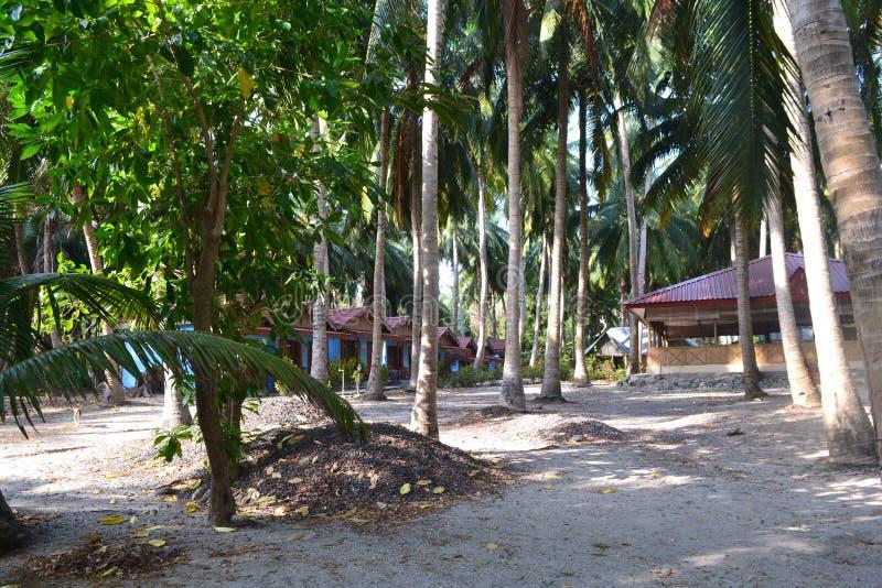 Islas Andaman y Nicobar Resort a orillas de la playa Clima tropical imagenes de archivo