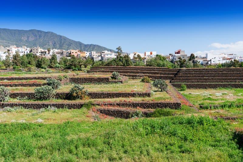 Islas Canarias de Tenerife de las pirámides del paso de Guanches, España foto de archivo