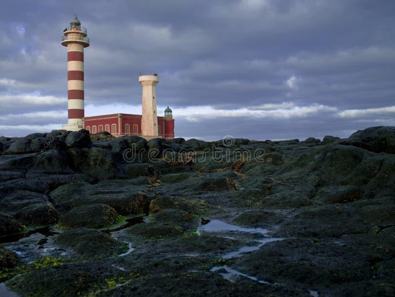 Islas Canarias Fuerteventura de Tost?n del faro imagenes de archivo