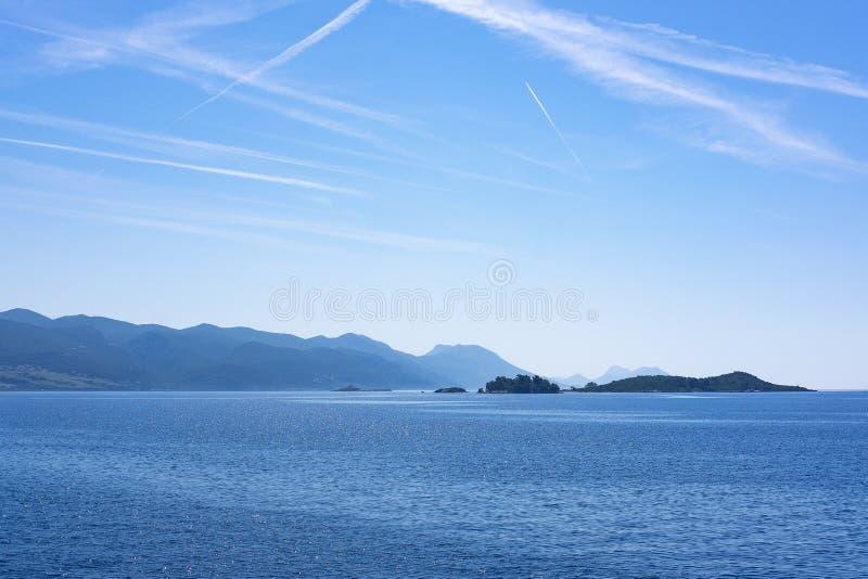 Islas cerca de Korcula, Dalmacia imagenes de archivo