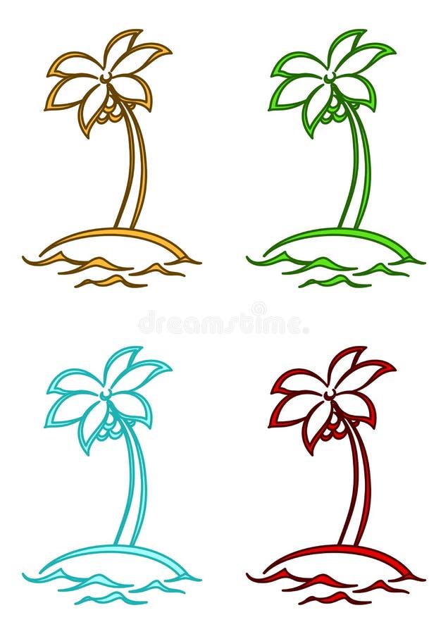 Islas con las palmas ilustración del vector