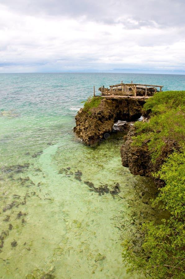 Islas de Camotes de la línea de la playa imágenes de archivo libres de regalías
