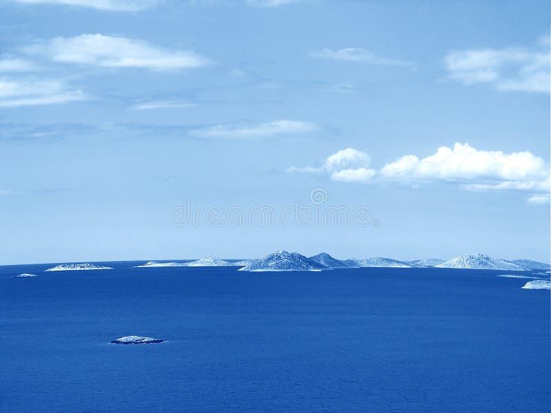 Islas de Kornati imagen de archivo