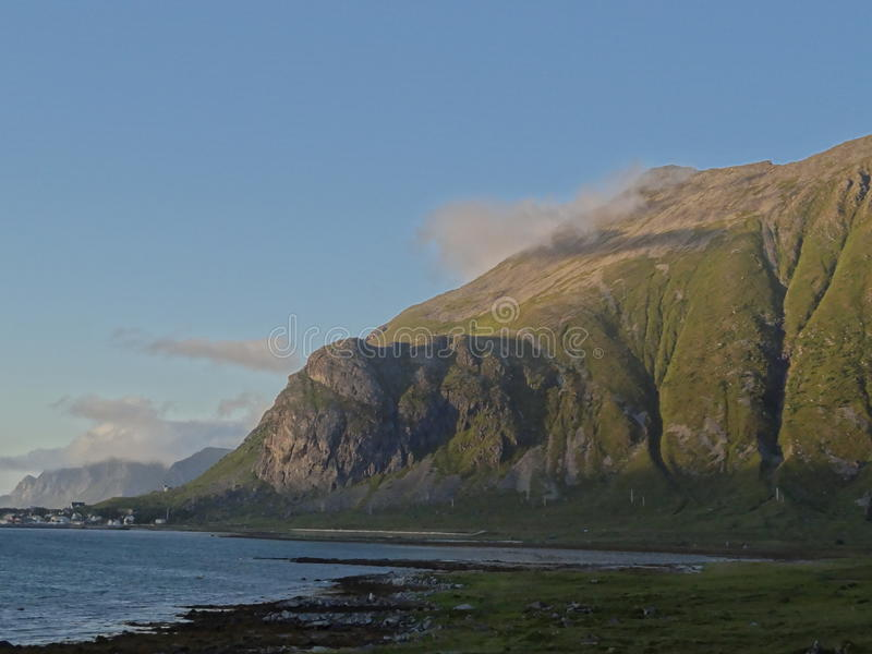 Islas de Lofoten, Noruega El mar noruego imágenes de archivo libres de regalías