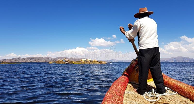 Islas DE los Uros, Meer Titicaca, Peru royalty-vrije stock afbeeldingen
