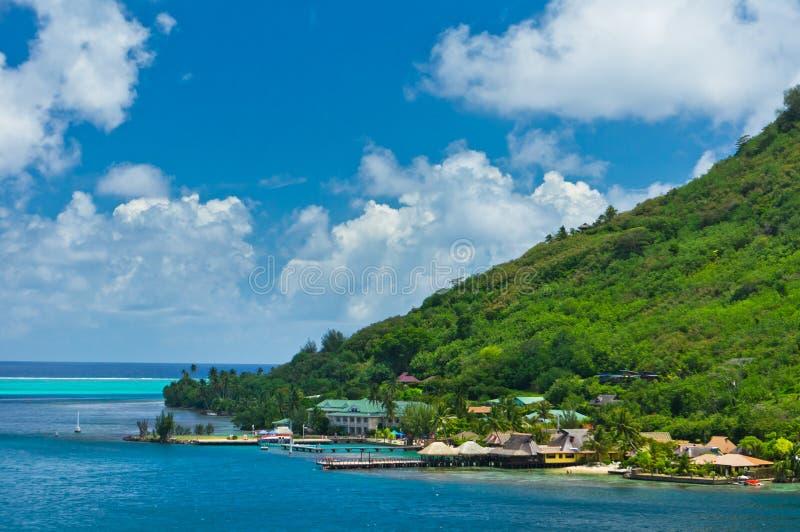 Islas de Moorea, la bahía del cocinero, Polinesia francesa imagenes de archivo