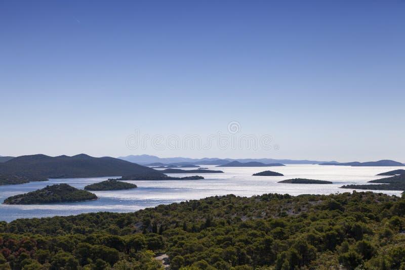 Islas de parque nacional de Kornati, archipiélago en Dalmacia, Croacia fotografía de archivo