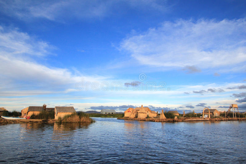 Islas flotantes de Uros fotografía de archivo