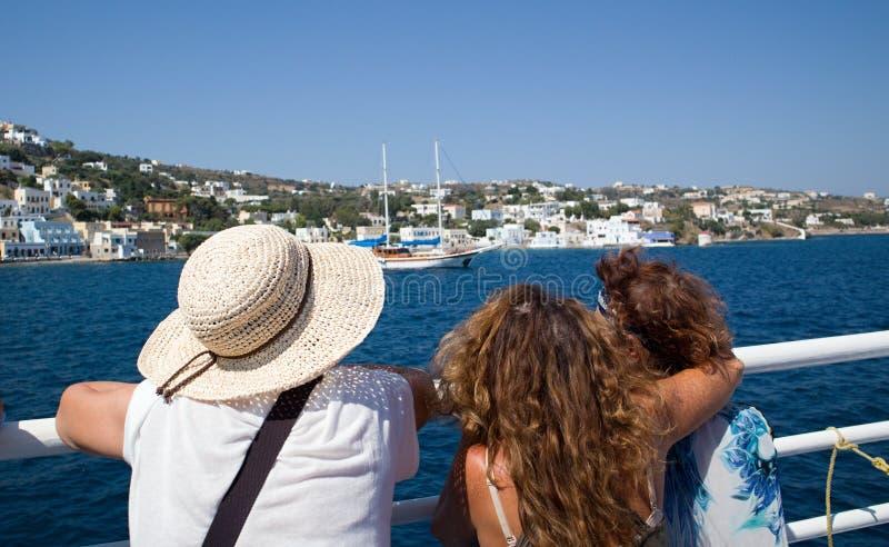 Islas griegas Kalymnos puerto El mejor destino turístico del Mar Egeo fotografía de archivo libre de regalías