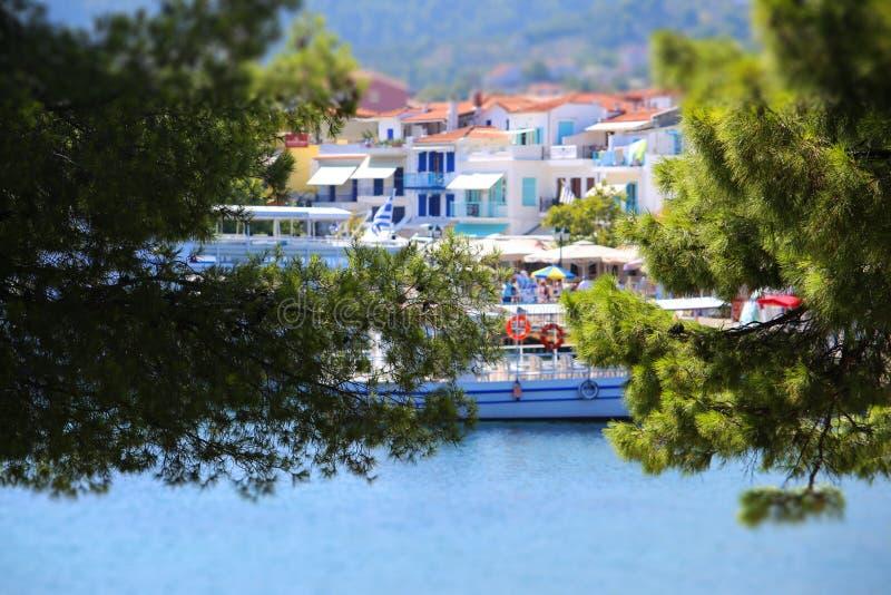 Islas griegas Skiathos fotos de archivo